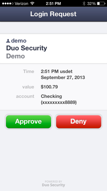 Duo transaction demo