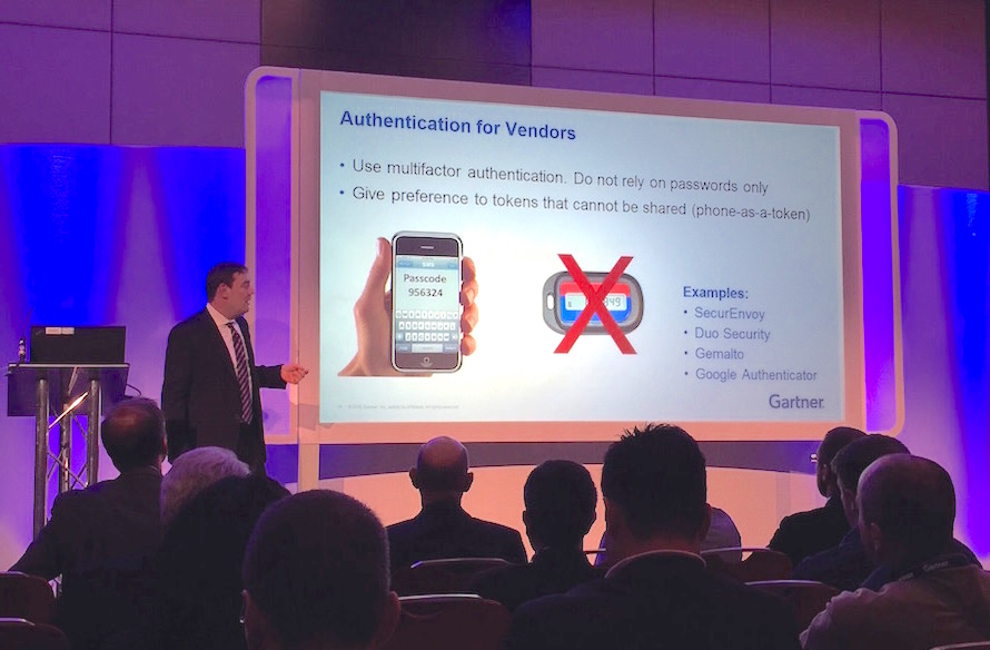 Felix Gartner Conference - two-factor authentication