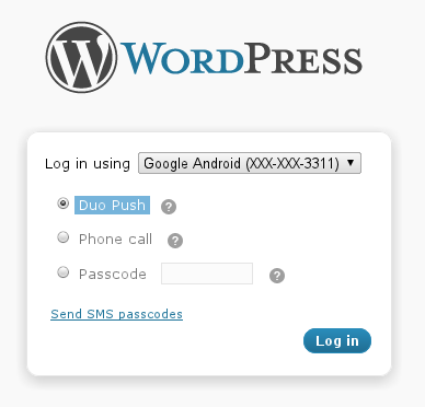 Protect Your WordPress Blog with Duo's Two-Factor