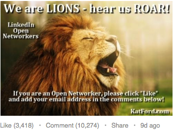 LinkedIn LION Comment Thread