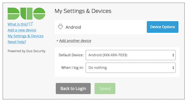 Duo Auth Prompt - Add Another Device - Saved