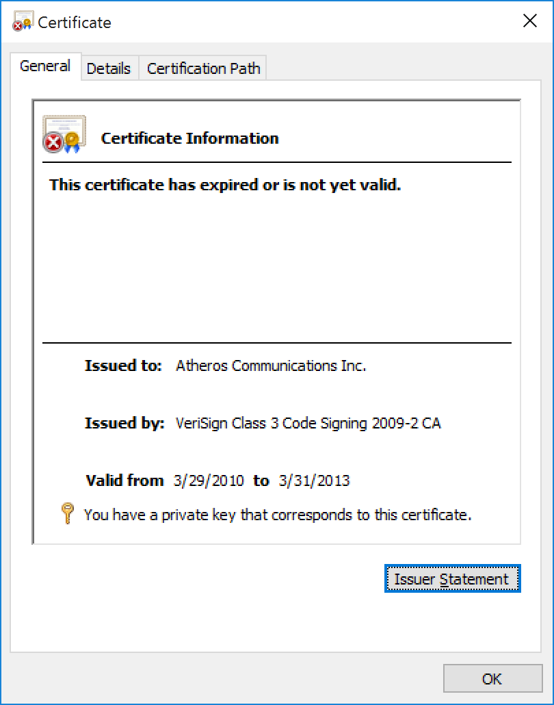 Atheros Certificate