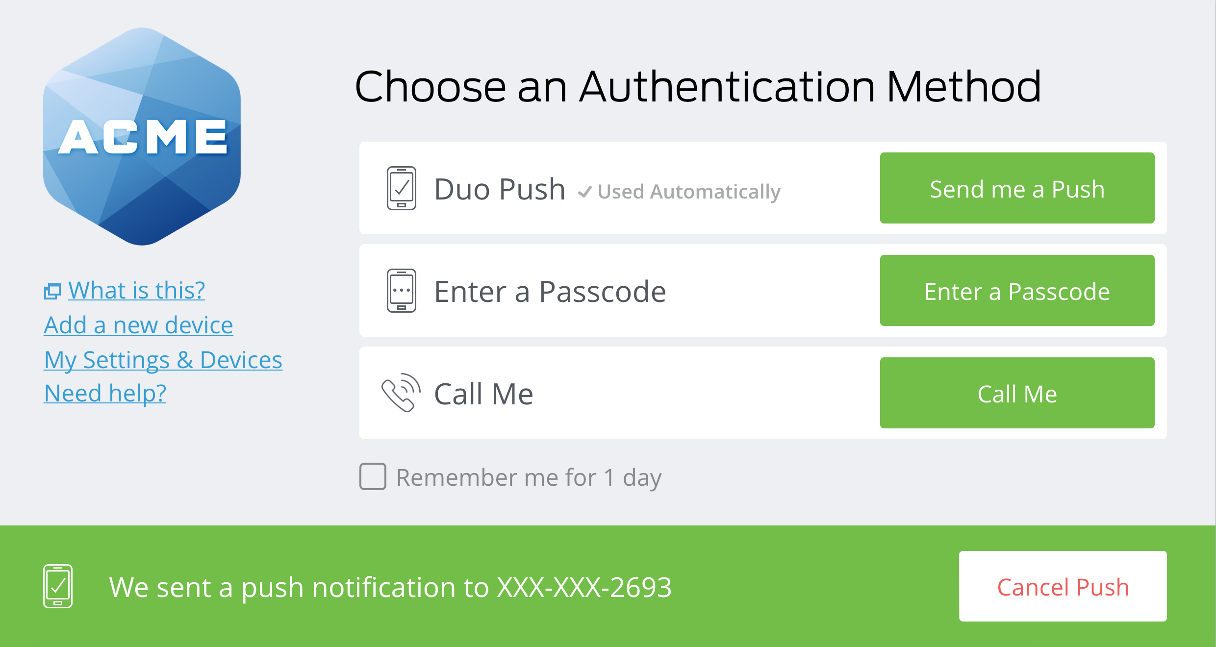 Duo New Authentication Prompt Updates
