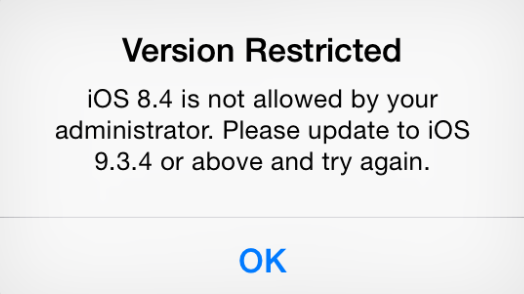 iOS Version Restriction