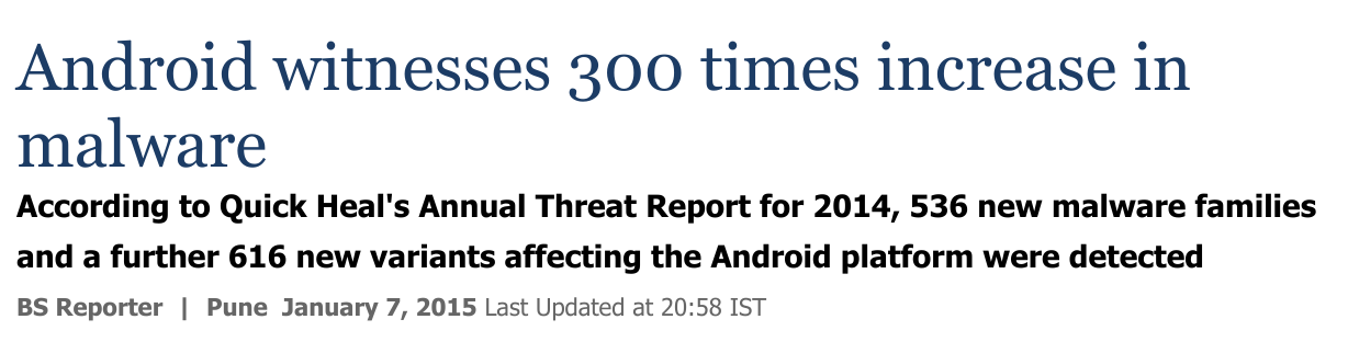 Android malware headlines