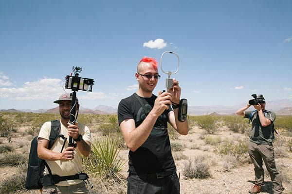 Rik, Mikhail and Martin brave the desert during the Duo in Space live stream