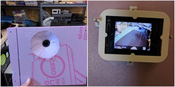 Camera mounting design test