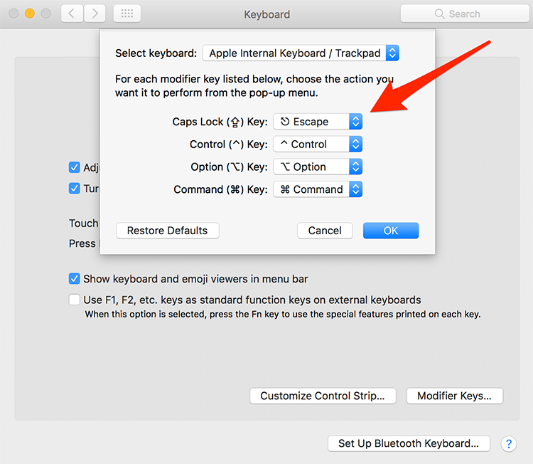 To remap your keys, go to System Preferences > Keyboard > Modifier Keys