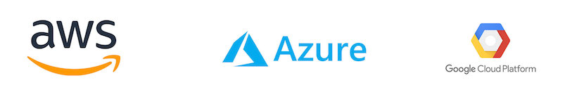 AWS, Azure and Google Cloud