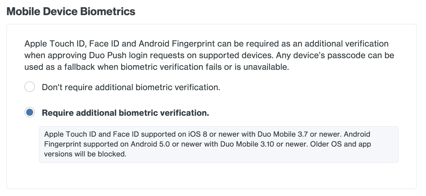 Mobile Device Biometrics