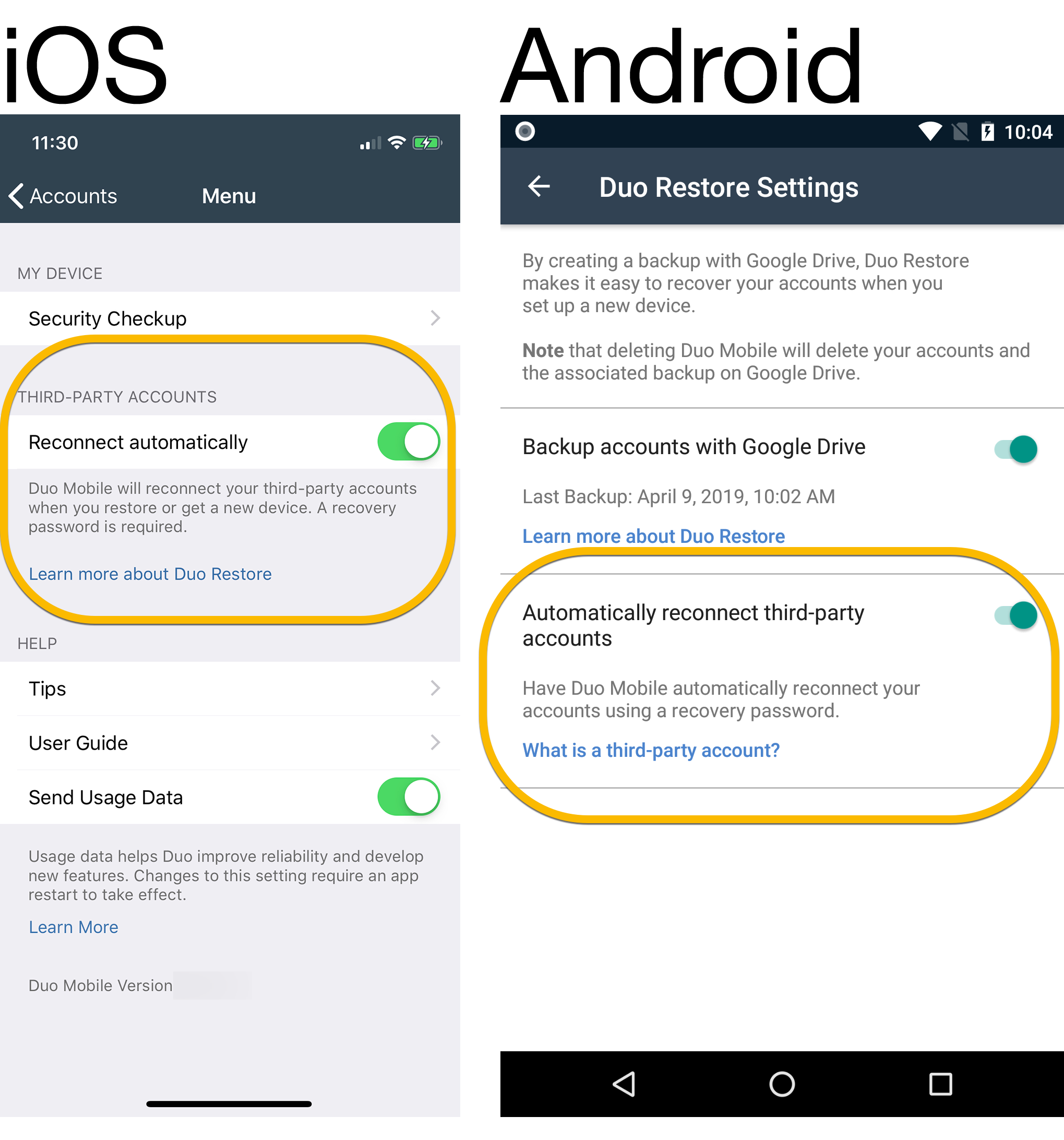 Duo Mobile Makes It Easier to Restore Your Third-Party