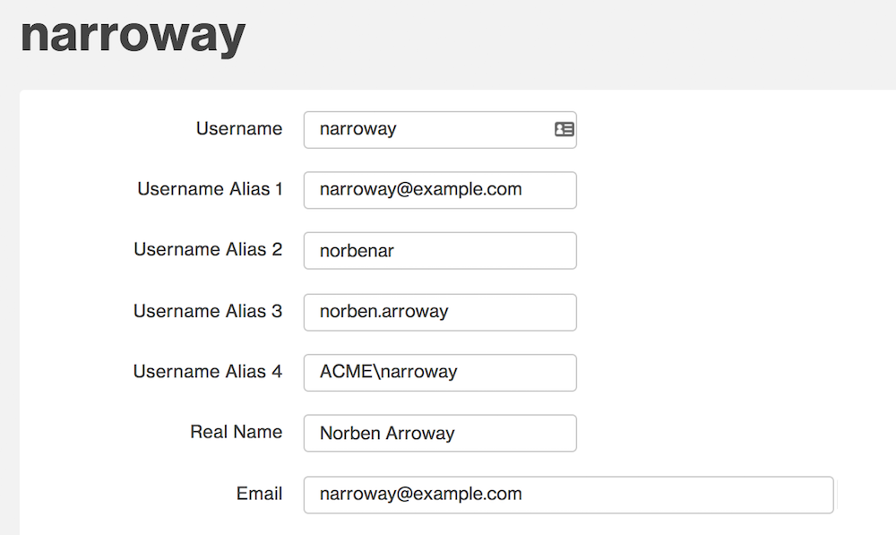 Username Aliases