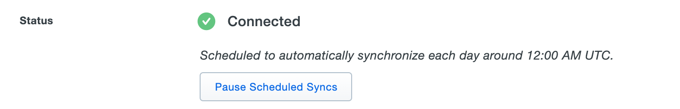 AD Sync Connected Status
