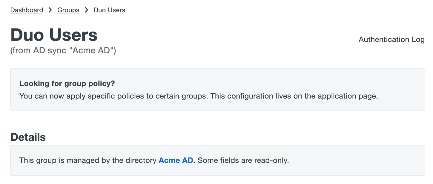 Group Managed by AD Sync
