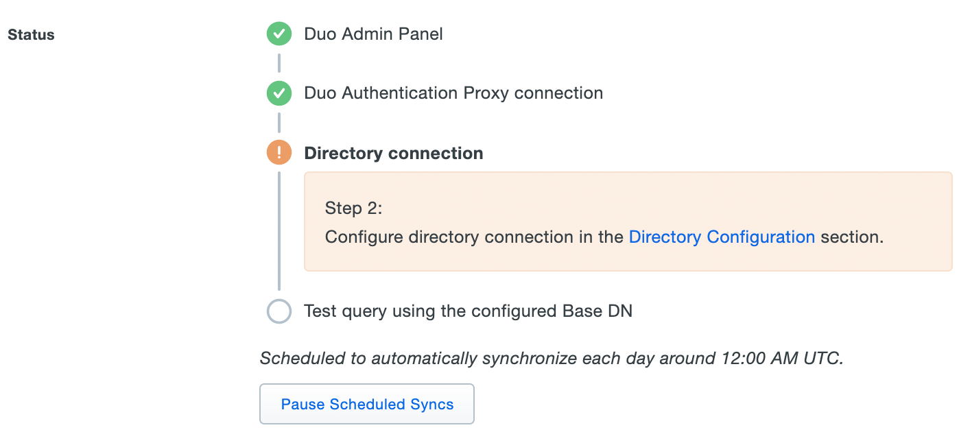 AD Sync Status with Authproxy Connected