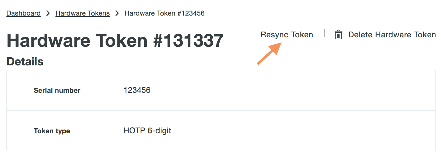 Resync the token