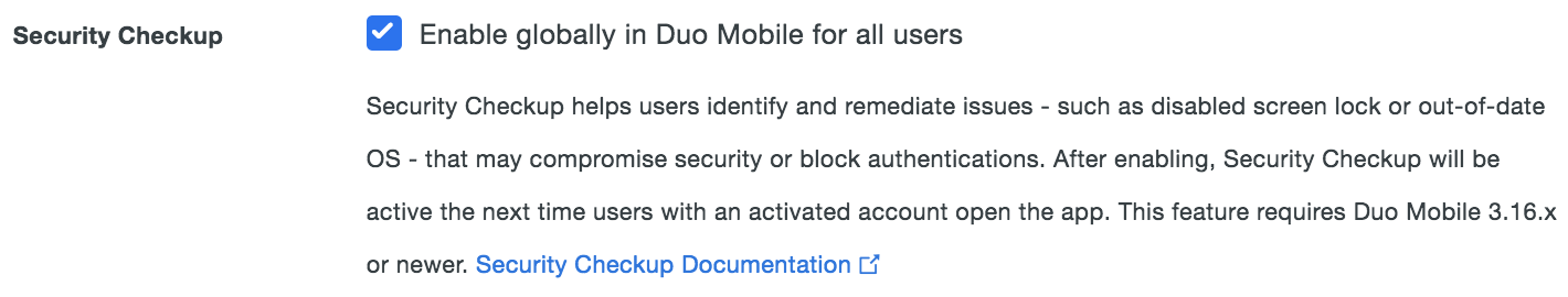 Duo Mobile Security Checkup