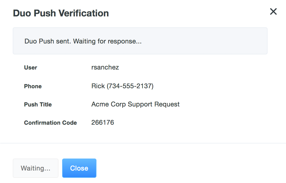 Waiting for Push Verification