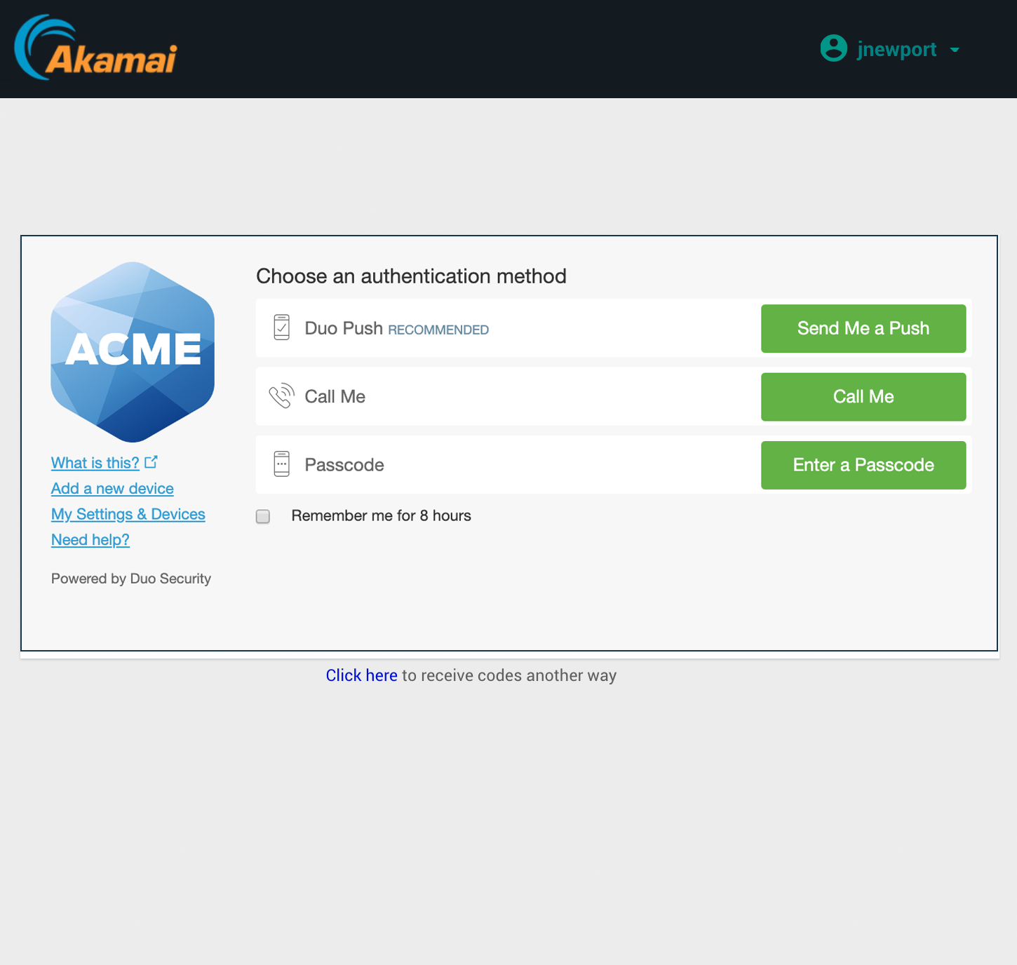 Akamai EAA Duo Authentication
