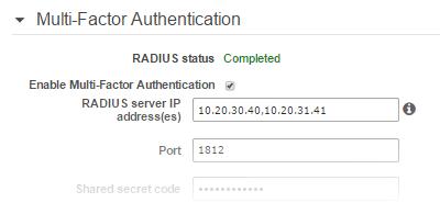 HA RADIUS Multi-Factor Authentication