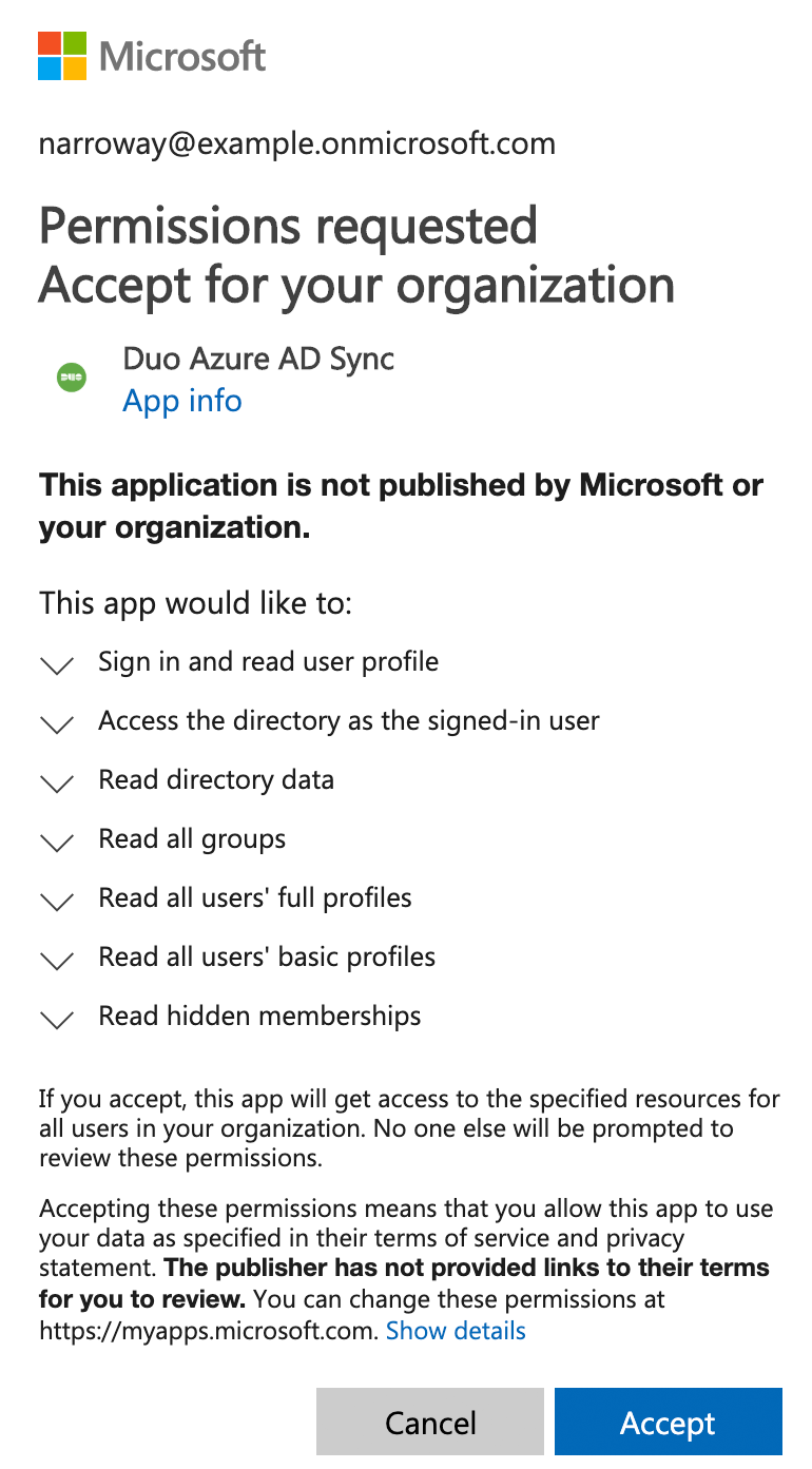 Synchronizing Users from Azure Active Directory | Duo Security