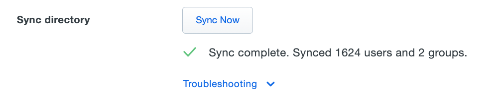 Directory Sync Complete