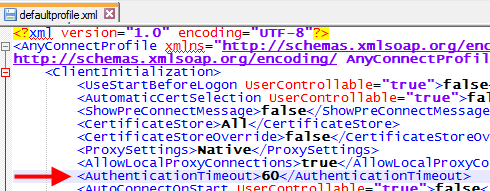 AnyConnect XML modification