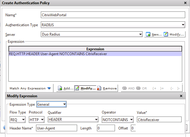 Citrix NetScaler Gateway: Alternate Instructions | Duo Security