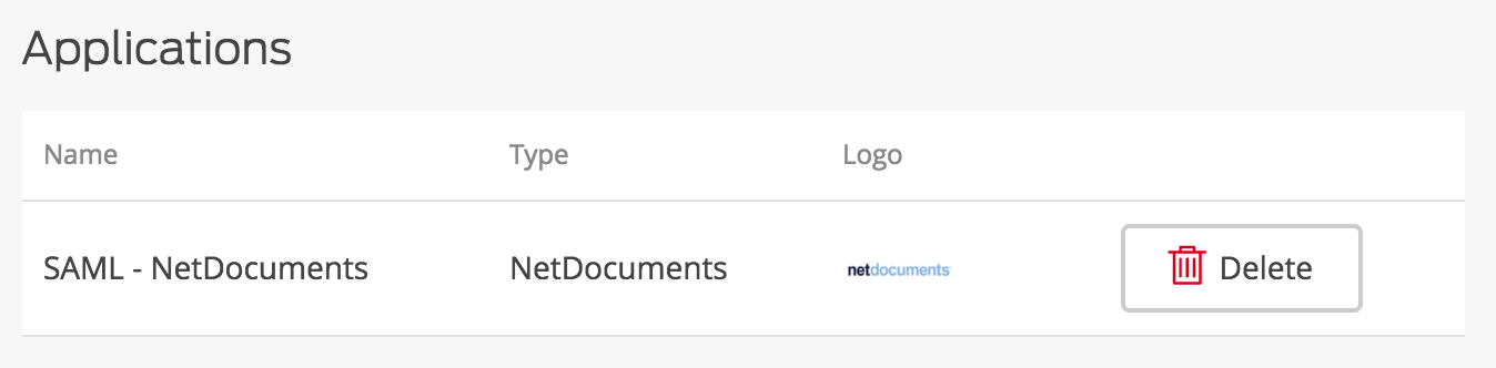 NetDocuments Application Added
