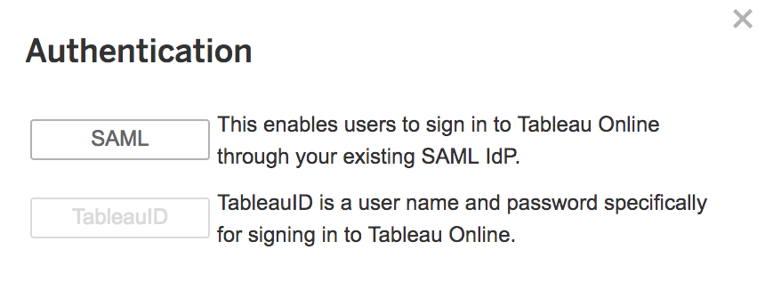 Enable Tableau SSO for existing users