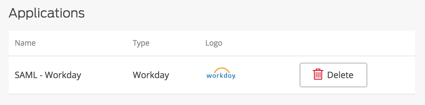Workday Application Added