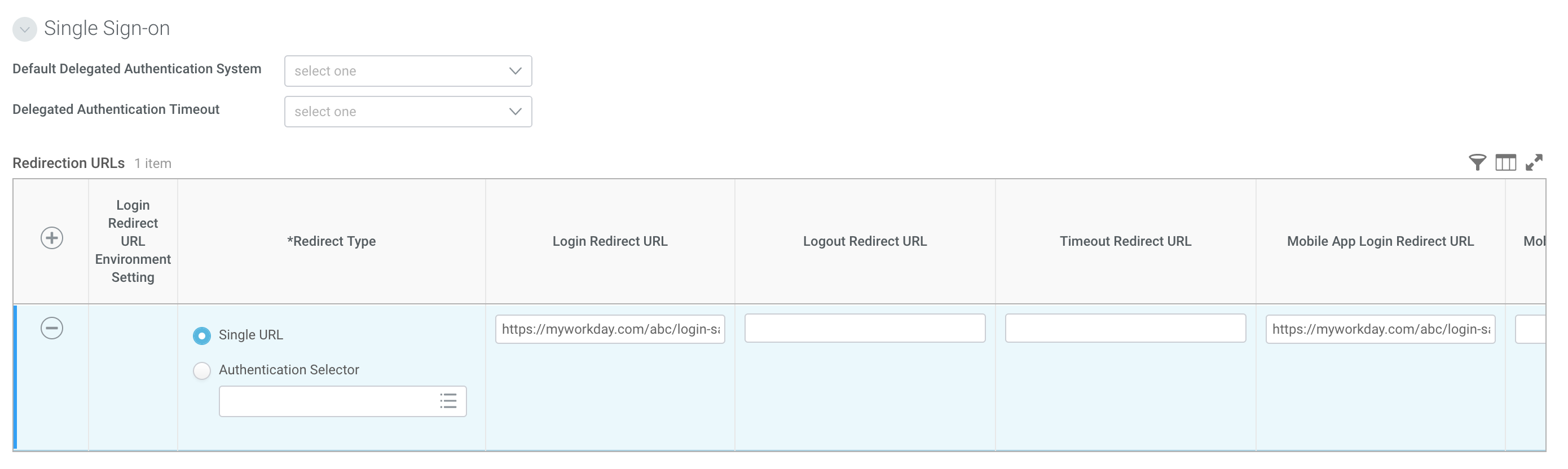 Configure Workday Redirect URLs
