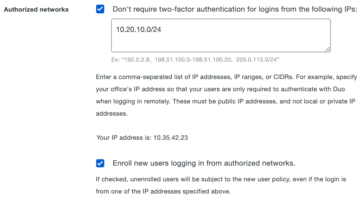 Using Remembered Devices & Authorized Networks Controls