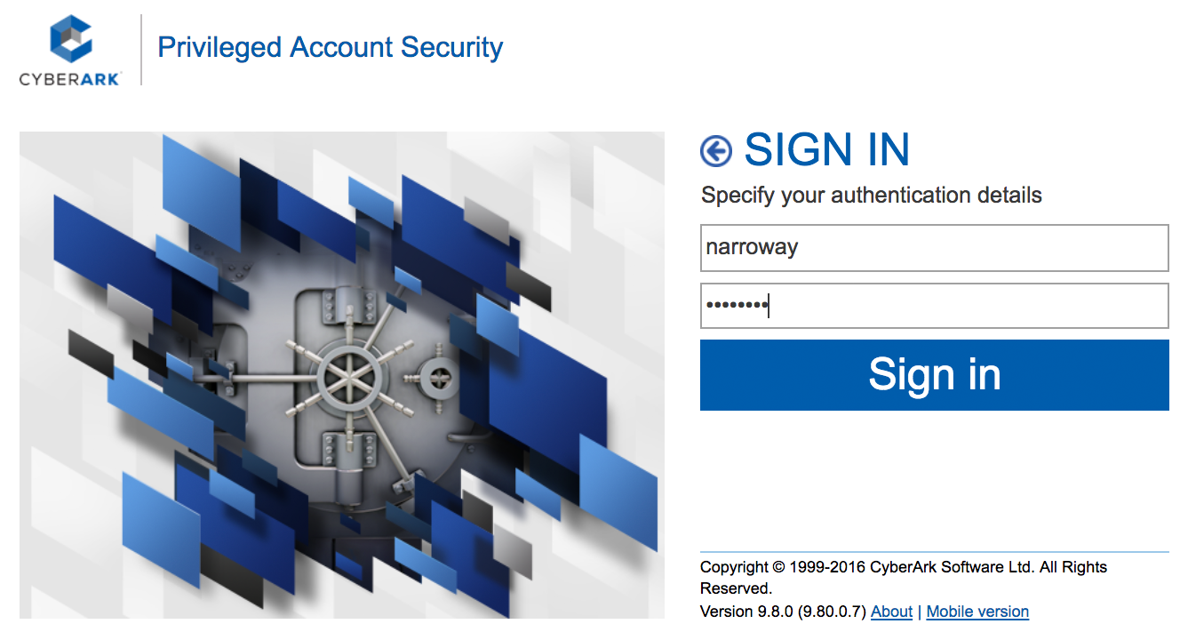CyberArk Duo WebSDK Login - Primary Authentication