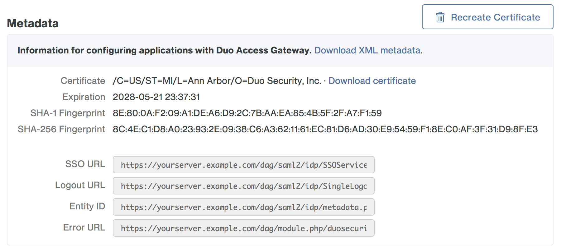 Duo Access Gateway - Generic SAML Service Provider | Duo