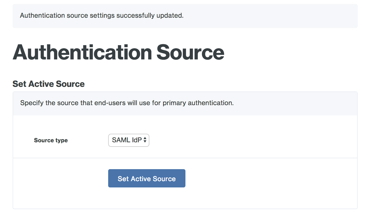 SAML Configuration Success
