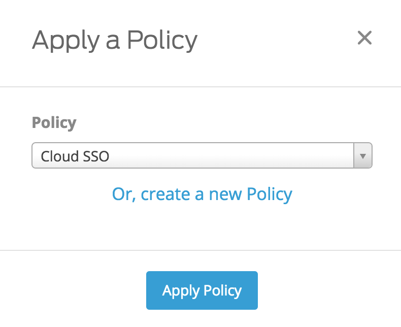 Apply Cloud SSO Policy to Duo Access Gateway