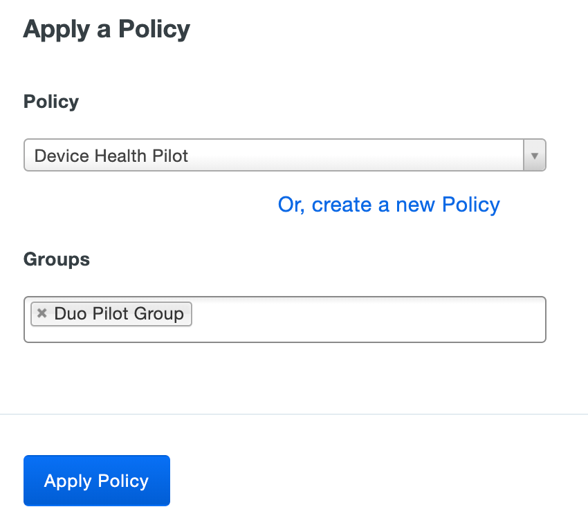 Apply the New Device Health Application Group Policy