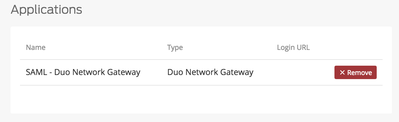 Duo Network Gateway Application Added