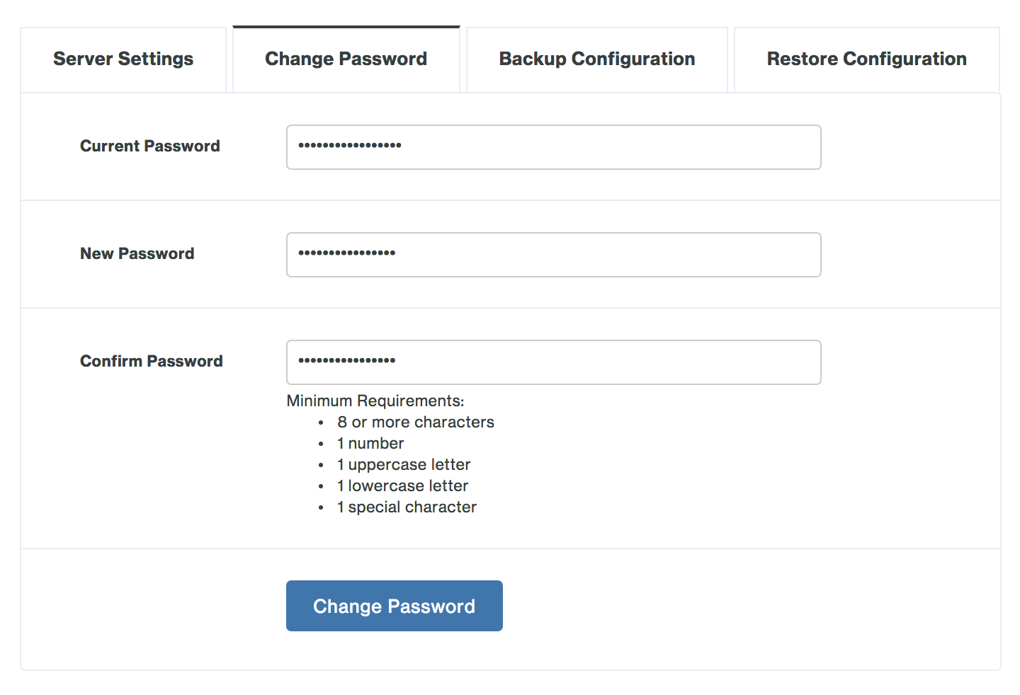 Change Duo Network Gateway admin password