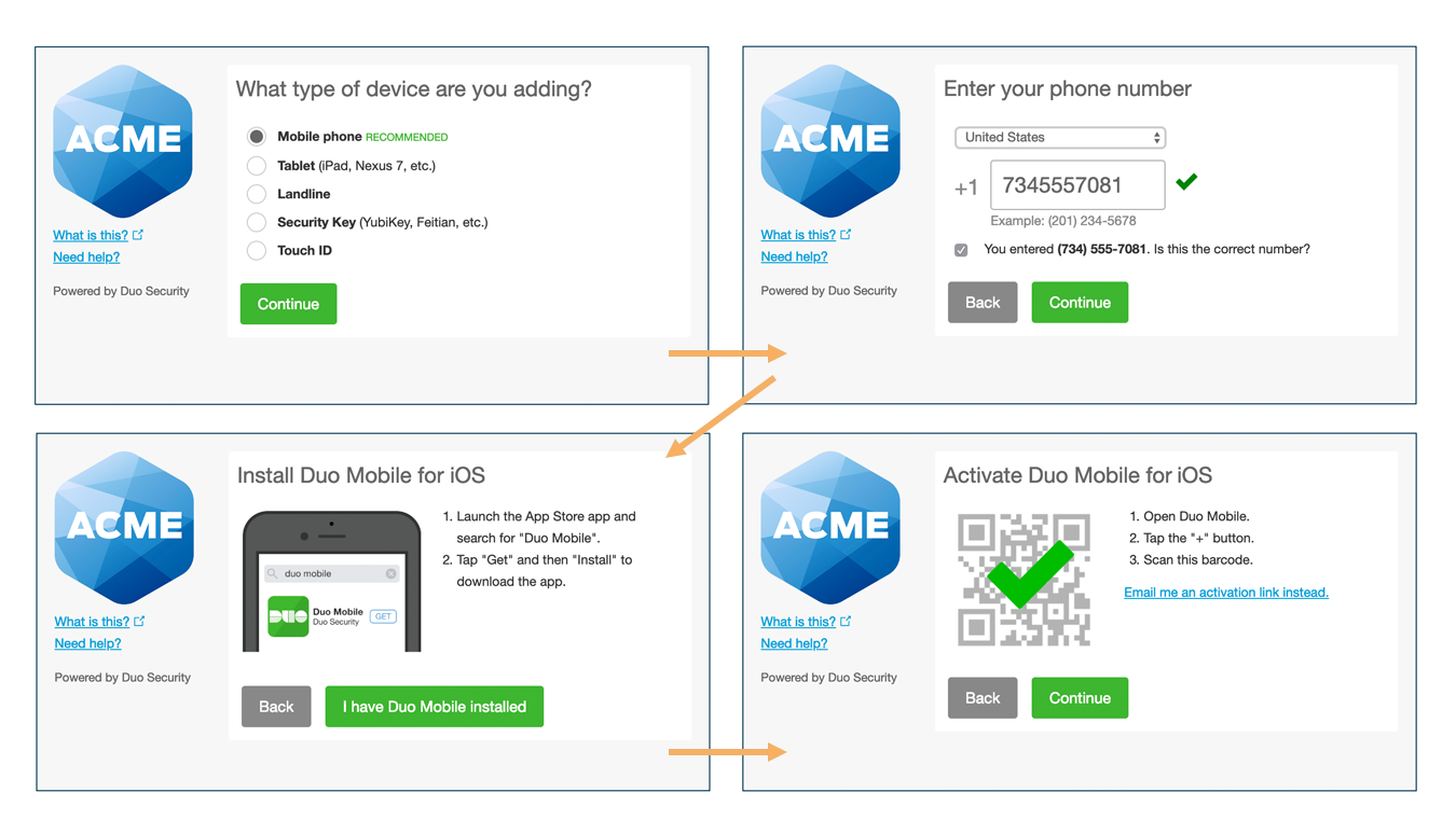 Duo User Enrollment Process