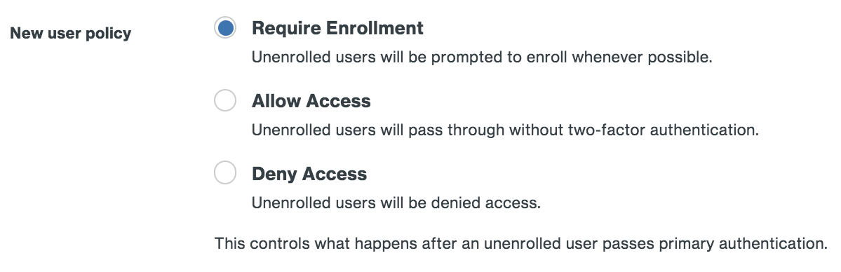Require Enrollment