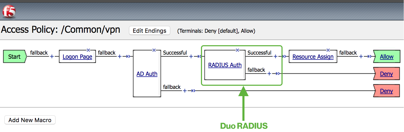 Two-Factor Authentication for F5 BIG-IP APM with RADIUS and Duo