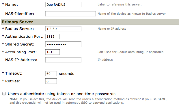 Juniper Networks & Pulse Secure SSL VPN: RADIUS | Duo Security