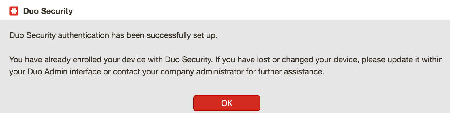 LastPass Duo Setup Account Enrolled