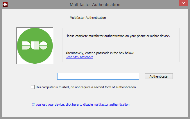 LastPass Mobile App Duo Authentication