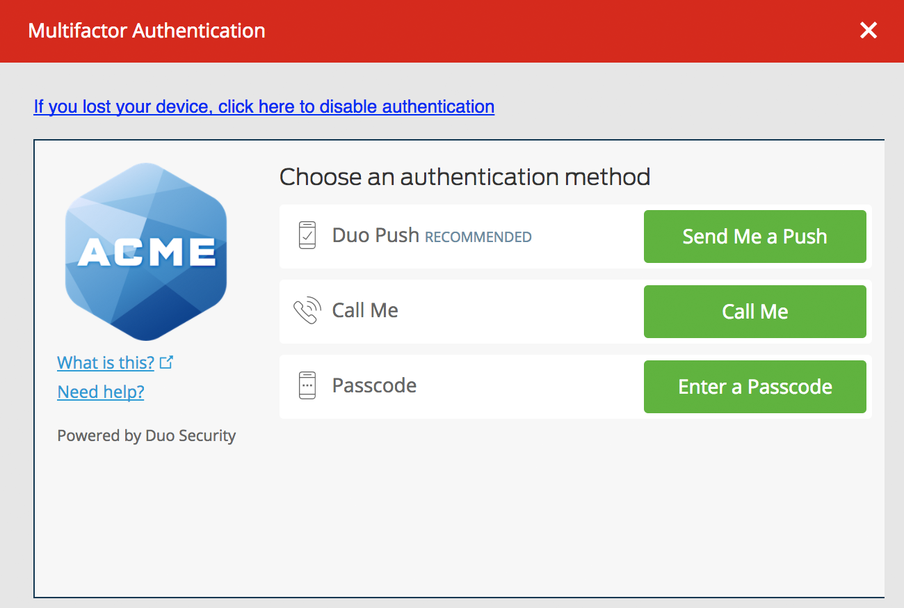 LastPass Web Authentication Prompt
