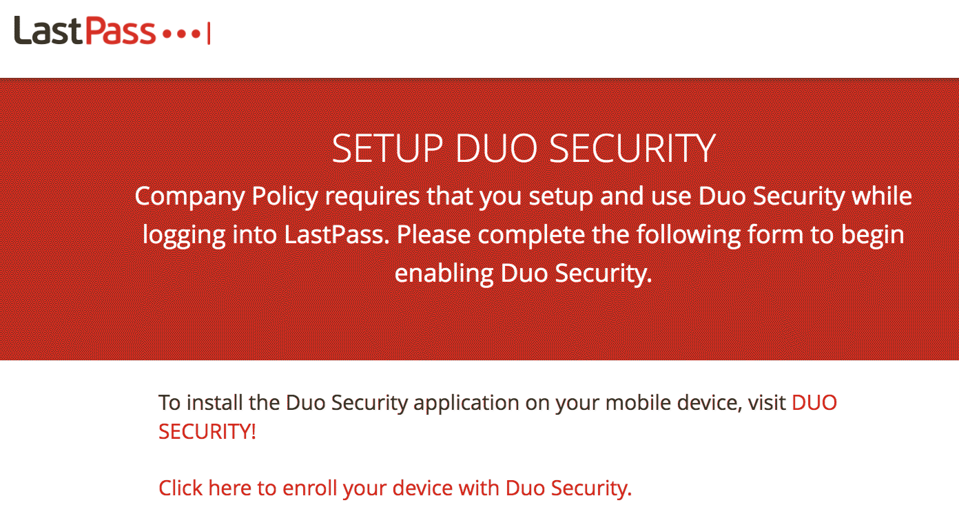 LastPass Enrollment Prompt