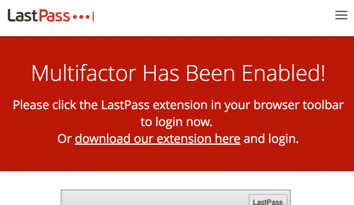 LastPass User Enrolled