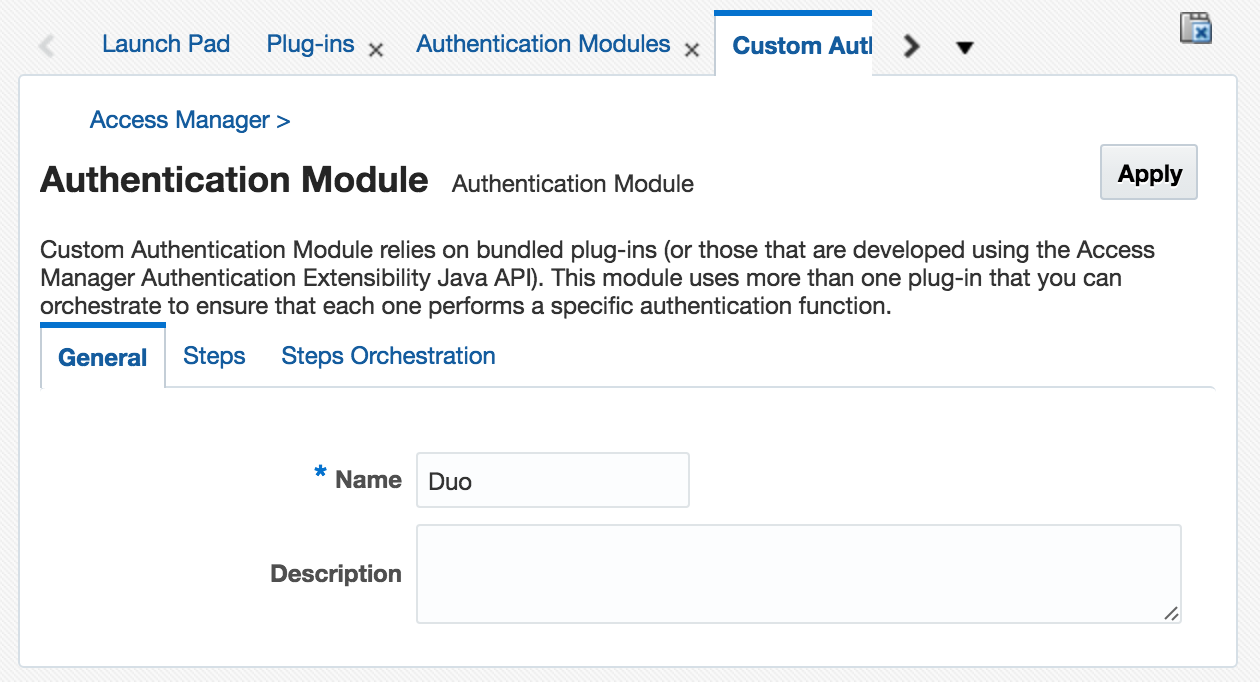 Create an authentication module